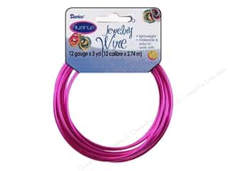 Darice Jewelry Wire Aluminum 12Ga Lady Pink 3yd