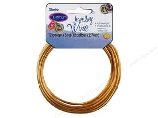 Darice Jewelry Wire Aluminum 12Ga Gold 3yd