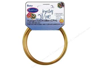 Wirework Gold: Darice Jewelry Wire Aluminum 14Ga Gold 3yd