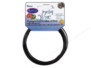 Darice Jewelry Wire Aluminum 14Ga Black 3yd