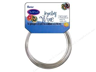 Darice Jewelry Wire Aluminum 16Ga Silver 3yd