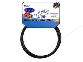 16 ga wire: Darice Jewelry Wire Aluminum 16Ga Black 3yd