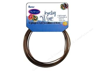 16 ga wire: Darice Jewelry Wire Aluminum 16Ga Brown 3yd