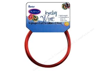 16 ga wire: Darice Jewelry Wire Aluminum 16Ga Red 3yd
