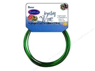 16 ga wire: Darice Jewelry Wire Aluminum 16Ga Green 3yd
