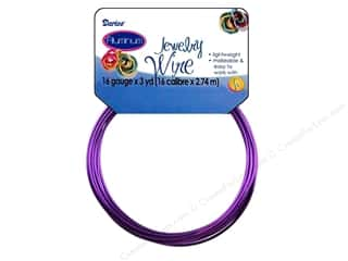 darice: Darice Jewelry Wire Aluminum 16Ga Purple 3yd