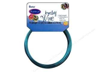 Yard Sale Darice Jewelry Wire: Darice Jewelry Wire Aluminum 16Ga Sapphr Blue 3yd
