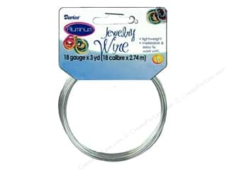 Darice Jewelry Wire Aluminum 18Ga Silver 3yd