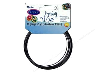 Darice Jewelry Wire Aluminum 18Ga Black 3yd