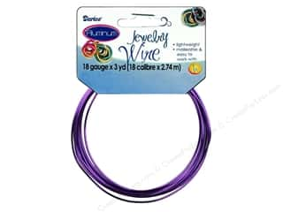 18 ga wire: Darice Jewelry Wire Aluminum 18Ga Purple 3yd