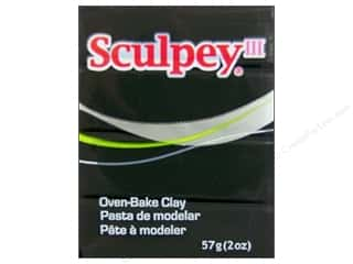 Sculpey Clay Crafting Books: Sculpey III Clay 2 oz. Black