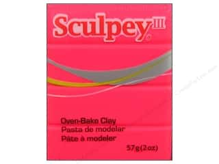 Sculpey Clay Crafting Books: Sculpey III Clay 2 oz. Hot Pink