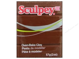 Black: Sculpey III Clay 2 oz. Chocolate