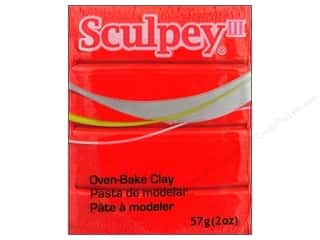 Clay Art Accessories: Sculpey III Clay 2 oz. Red Hot Red