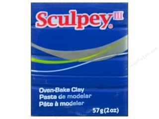 Clay Blue: Sculpey III Clay 2 oz. Blue