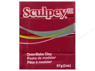 Clay Sculpey III Clay: Sculpey III Clay 2 oz. Red