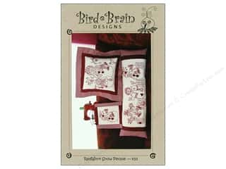 "Bird Brain Design 14"": Bird Brain Designs RedWork Snow People Pattern"