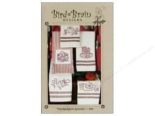 "Bird Brain Design 4"": Bird Brain Designs The RedWork Kitchen Tea Towels Pattern"