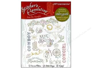 Books & Patterns $9 - $15: Stitcher's Revolution Iron On Transfer Wild Wild West