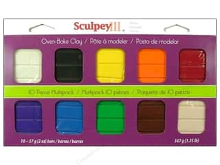 Clay & Modeling $3 - $4: Sculpey III Clay Multipack 10 pc. Classic