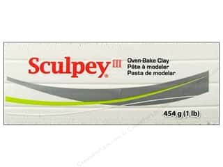 fall sale sculpey: Sculpey III Clay 1lb White