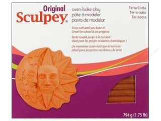 Sculpey Clay Crafting Books: Sculpey Original Clay 1.75 lb. Terra Cotta