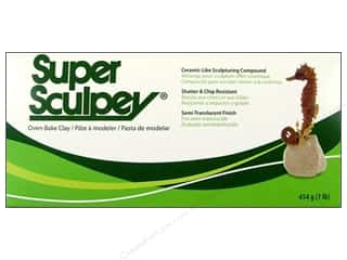 Clay Cream/Natural: Super Sculpey Polymer Clay 1 lb. Beige