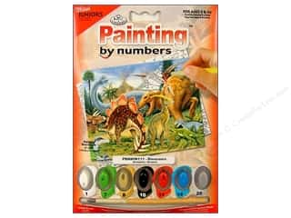 Royal Rub Ons Royal Paint By Number: Royal Paint By Number Mini Juniors Dinosaurs