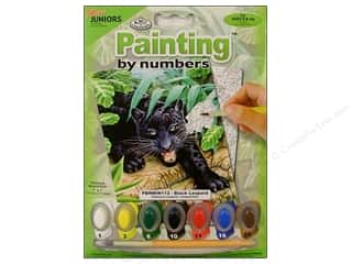 Kid Crafts Blue: Royal Paint By Number Mini Juniors Black Leopard