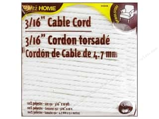 Dritz Home Cable Cord 3/16&quot; #150 Pkg White 10yd