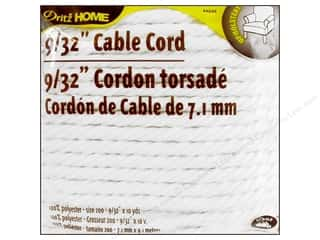 "Dritz Home Cable Cord 9/32"" #200 Pkg White 10yd"