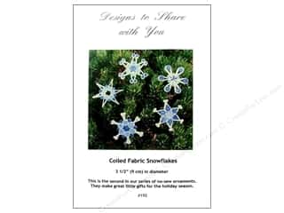 Ursula Riegel Coiled Fabric Snowflakes Pattern