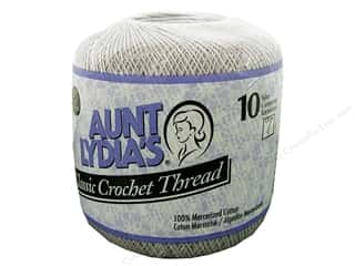 Aunt Lydia's Classic Cotton Crochet Thread Size 10 350 yd. Silver