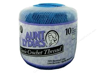 Yarn, Knitting, Crochet & Plastic Canvas Pearl Cotton: Aunt Lydia's Classic Cotton Crochet Thread Size 10 Blue Hawaii