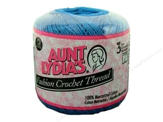 Aunt Lydia's Fashion Crochet Thread Size 3 Blue Hawaii
