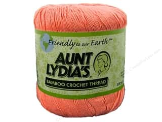 Aunt Lydia&#39;s Bamboo Crochet Thread Size 10 Coral