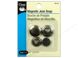 Fasteners 2 in: Magnetic Jean Snap by Dritz 3/4 in. Antique Silver 2 pair