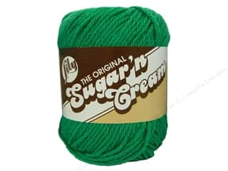 cotton yarn: Lily Sugar 'n Cream Yarn  2.5 oz. Mod Green