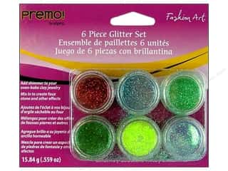 Premo Glitter Fashion Art Set Brights 6pc