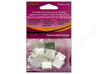 Premo Jewelry Finding Fashion Art Square Kit 9pc