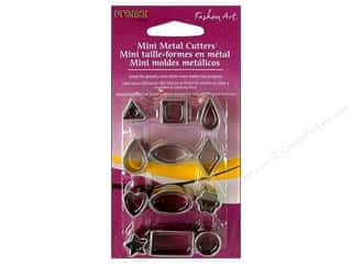Cutters Clay Cutters: Premo! Sculpey Mini Metal Cutters 12 pc. Basic Shapes
