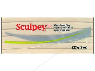 fall sale sculpey: Sculpey III Clay 8oz Translucent