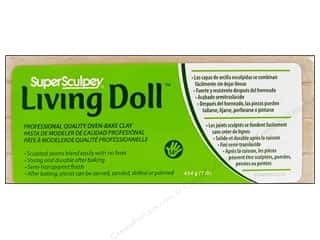 Super Sculpey Clay Polyform 1lb Living Doll Beige