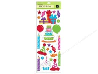 K&Co Adhesive Chipboard Happy Birthday 2 U! Icons
