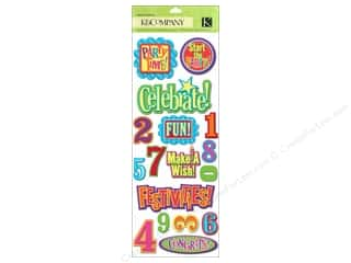 Caption Stickers / Frame Stickers: K&Co Adhesive Chipboard Happy Birthday 2 U! Wrd Nm