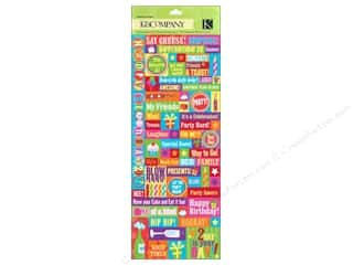 Caption Stickers / Frame Stickers: K&Co Sticker Embossed Happy Birthday 2 U!