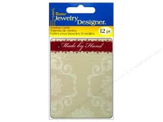 Darice JD Earring Card Made By Hand 12pc