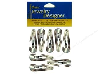 "Hair: Darice Jewelry Designer Hair Accessory Clip Snap On 1.25"" 8pc"