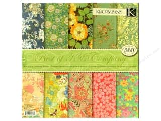 K & Company Designer Papers & Cardstock: K&Company Paper Pad 12x12 Best Of K & Company 360pc