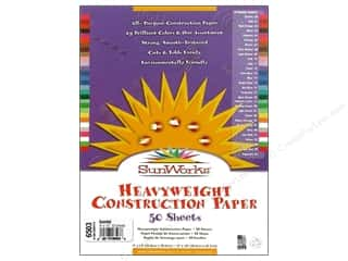 "Holiday Sale: Sunworks Construction Paper 9x12"" Assorted 50pc"